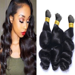 human indian bulk braiding hair Australia - 8A Human Loose Wave For Braiding Bulk Hair Brazilian No Weft Loose Curly Braiding Hair Bulk Mixed Length No Attachment