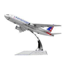 Wholesale New hot sale 1:400 American Airlines Boeing 777 16cm alloy metal model aircraft child Birthday gift plane models chiristmas gift