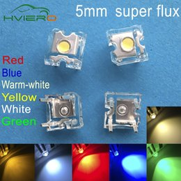 Yellow car leds online shopping - Led mm White Red Green Blue Yellow Pink Purple UV Dome Super Flux Water Clear Piranha Leds Car Lamps Light Through Hole