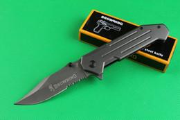 $enCountryForm.capitalKeyWord Canada - Browning 355 Flipper Titanium Tactical Folding Knife 440C 57HRC Serrated Blade Camping Hunting Survival Rescue Pocket Knife Utility EDC