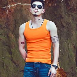 Mens Stringer Vests Wholesale Canada - 8 colors 2017 Mens Tank tops Tights Clothing For Men Casual Sleeveless Men Undershirts Cotton Bodybuilding Stringer Summer Homme Shirts Vest
