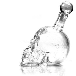Wholesale Skeleton Glass Bottle Vodka Creative Transparent Bottles Personalized Contracted Polished Blown Tumblers For Red Wine Filled Hot Sale qc I