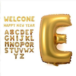 $enCountryForm.capitalKeyWord NZ - 40 inches Gold silver Letter Foil Balloons Birthday Party Banner Helium Letter Balloon Wedding Decoration Ballons Holiday Supplies