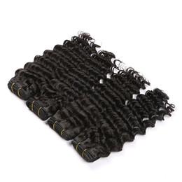 tangle free hair extensions 2018 - tangle free shedding free Malaysian Deep Wave Human virgin Remy Hair Bundles 12''-26'' Natural Color