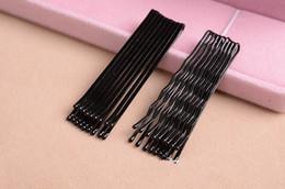 Hair Color Edges Australia - 50cards =3000pcs 45mm Invisible Hair Accessories Black Bobby Pin Ball Tip Clip Headdress Fine Hairpin Hair Pin Edge Clip Fj3229