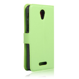 cover alcatel pop UK - Litchi lychee wallet leather cover Case card slot For Alcatel One Touch Pop 4 Plus PIXI 4 6.0 4G Flash plus 2