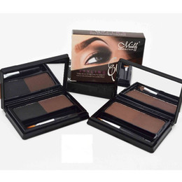 powder natural NZ - Makeup Eyebrow Powder with Eye brow Brush Menow Double Colors Waterproof Natural Stereo Tatto Eyebrow Enhancers E15006