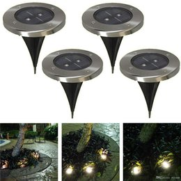 solar led floor lamps Canada - 4pcs Outdoor LED Solar Powered Buried Underground Step Light Garden Lawn Fence Floor Landscape Lamp