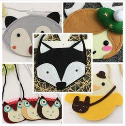 $enCountryForm.capitalKeyWord Canada - Bags Purses for Baby Girl Fox Cat Coin Top Quality Children Accessories Animal Purses Cartoon Cross Body Coin Kids Purse