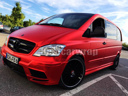 Discount graphics for cars - Union Red Satin Chrome Car Wrap Film with air bubble Free For Luxury Vehicle   truck Graphics Covering foil size 1.52x20