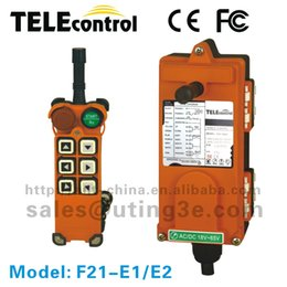 crane radio remote control UK - Wholesale- F21-E1Top sales (2TX+1RX)6 single speed buttons industrial safety crane radio remote control hoist