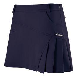 wrinkle skirt 2019 - Wholesale- 2017 Fitness Feminino Tennis Skirt Woman Golf Skirt Summer Skorts Anti Emptied Shorts Pleated Safety Wrinkle