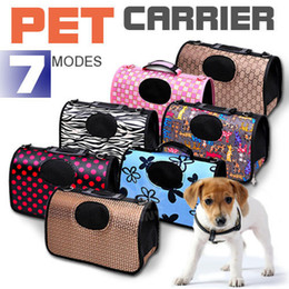 Folding Dog Carrier Canada - Suitable for 1-3 Kg of dogs Pet Carrier Dog Cat Puppy Folding Travel Carry Bag Portable Cage Crate Middle