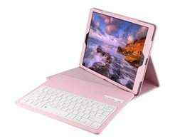 Wholesale Bluetooth Wireless Keyboard Case PU Leather Smart Cover with Stand Holder for iPad Pro New Inch Tablet