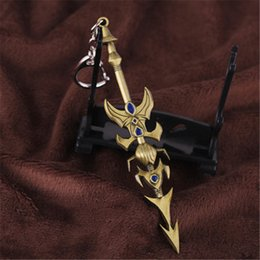 car master NZ - League of Legends Game Master Yi Key Sword Key Rings Bronze LOL keychain & Car Key Rings For Gift