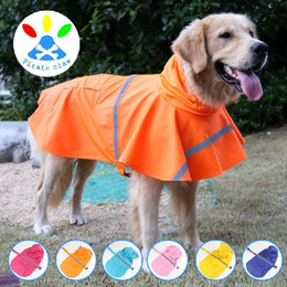 Wholesale Practical Pet Raincoat Reflective Waterproof Snow Proof Dog Rainwear Creative For Outdoor Dogs clothes Raincoats High Quality ty B R