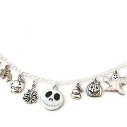 Chinese  12pcs Nightmare Before Christmas Charm Bracelet Jack Skellington Jack-O-Lantern charm adjustable silver tone manufacturers