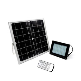 China Waterproof Remote Control Stepless Dimming 18W Solar Panel Power 120LED Solar LED Floodlight Spotlight Outdoor Garden Lighting supplier stepless light suppliers