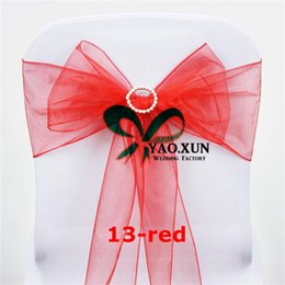 organza bows for decoration Canada - Organza Chair Sash \ Chair Tie Bow Include Buckle For Chair Cover Decoration