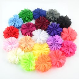 $enCountryForm.capitalKeyWord NZ - free shipping 30pcs lot 6.5CM Multi-colors Sunflower Chiffon Fabric Flowers DIY Baby Girl Hair Band Accessories Dress Cloth Decoration H0240