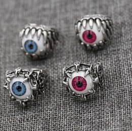 devil alloys Canada - Punk Gothic Antique Silver Eye of the demon Ring Alloy Devil Eyes Rings Eye Ring US SIZE 8 9 10 11 New Arrival!