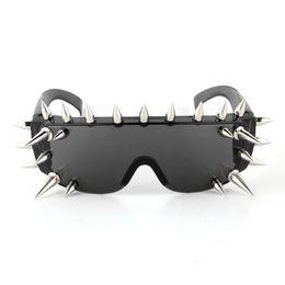 5d341dac60 Wholesale- 17 21 25 Pieces Rivet Sunglasses Men Women Luxury Brand Designer Steampunk  Goggles Gothic Hip Hop Punk Party Eyewear Your Style