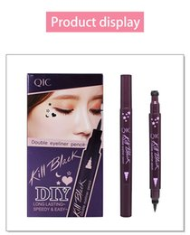 Barato Líquido Eyeliner China-Dupla Eyeliner caneta make-up Waterproof Sweatproof <b>Liquid Eyeliner China</b> Maquiagem de qualidade superior para Eye 4 Color Chooes