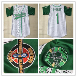 China USA Movie Jerseys Kekambas Men 1 Jarius G-Baby Evans Baseball Shirt Cheap White Green Alternate Uniform Embroidery Logos Good supplier uniform g suppliers