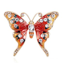 $enCountryForm.capitalKeyWord UK - Christmas Gift Luxury Butterfly Brooch Suit Scarf Clip Women Dress Wedding Bridal Lapel Pin Party Jewelry rhinestone brooch