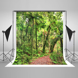 paint muslin backdrop Canada - 5x7ft Digital Printing Green Photography Backgrounds Spring Natural Scenery Photo Backdrop Forest Background for Wedding Photographic