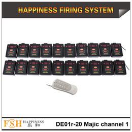 FedEX / DHL Frete grátis felicidade 2017 Novo item magia um canal sistema de disparo remoto, sistema de disparo sem fio de 20 pistas