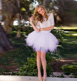 Red White Blue Tutus Australia - Puffy Lolita Style Short Rigid Tutu Skirt For Pretty Lady Tiered Short Tulle Skirts Summer Style Pink Lavender White