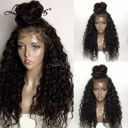 $enCountryForm.capitalKeyWord Australia - Pre Plucked Full Lace Human Hair Wigs 180 Density Brazilian Water Wave Lace Front Wigs With Baby Hair Half Wig For Black Women