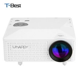 Home Theater Av NZ - Wholesale-New Uhappy BL18 Mini Portable Projector Home Theater AV VGA USB SD HDMI Proyector With LED Lamp High Definition LCD Projector