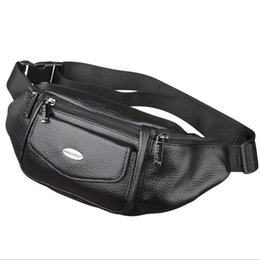 Chinese  New Men Genuine Leather Belt Bum Fanny Pack Waist Bag Vintage Travel Shoulder Messenger Hip Sling Chest Pack manufacturers