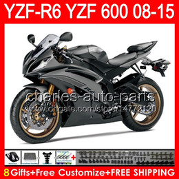 Fairing r6 silver online shopping - 8gifts For YAMAHA YZF R6 YZF600 YZF R6 gloss silver NO144 YZFR6 TOP black Fairing
