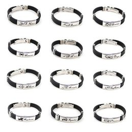 gemini bracelets Canada - Fashion Jewelry 12 Constellation Zodiac Signs Letter Bracelet, Stainless Steel and silica gel Material, Aries Taurus Gemini, Free Shipping
