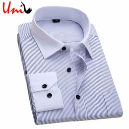 $enCountryForm.capitalKeyWord Canada - Wholesale- Men Shirt 2016 Striped Shirt Man Brand Business Casual Long Sleeve Turn-down Collar Mens Dress Shirt Male Clothes 5XL 6XL YN629