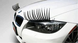 Cute Cartoon pairs online shopping - 1 Pair Fashion Cute Car Styling Stickers Black Eyelashes Vehicle Headlight Decorative Sticker On Car