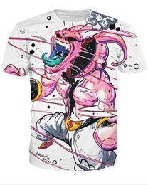 China New Arrival Japan Anime Dragonball Z 3d T Shirt Super Saiyan Short Sleeve T-shirt Men Fashion cartoon tee shits tops cheap dragonball super suppliers