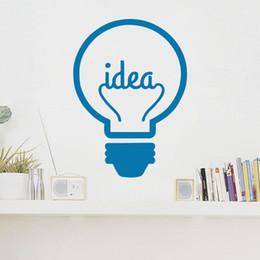 Wall Stickers Design For Kids NZ - Idea Symbol Lightbulb Art Vinyl Wall Stickers Creative Design Wall Decals Murals for Kids Room Living Room Decorations