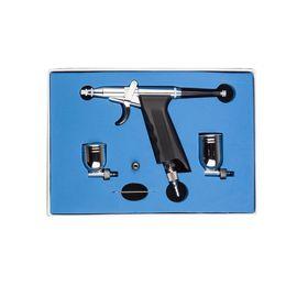 Gun triGGers online shopping - New SP166 Gravity Feed Dual Action Trigger Airbrush Kit mm Needle Air Brush Spray Gun Paint Art Car Painting Cake Decor