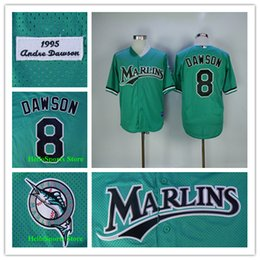 50ba29b6 ... andre dawson jersey 8 florida marlins baseball jerseys green 2017 new  mens baseball ...