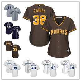 e34a43d45c0 San Diego Padres Jerseys Stitched Womens Youth White Gray 38 Trevor Cahill  39 .