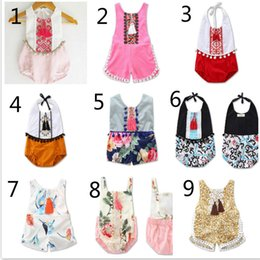 0ffbac44bf9d 9 Styles Bodysuit Girls Romper 2017 New Summer Floral Rompers Tassel Baby  onesie Cute Lace Children Clothing Kids girl Jumpsuit A6864