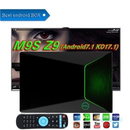 Tv Androids Octa Core Canada - Amlogic S912 TV Boxes M9S Z9 2GB 16GB Octa core 2.4G 5G WIFI BT4.0 4K H.265 Android 7.1 Smart TV Box