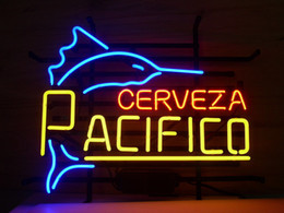 "mexican glasses Canada - 17""x14"" PACIFICO MEXICAN CERVEZA HANDCRAFT TRUE GLASS TUBE NEON LIGHT BEER BAR PUB DISPLAY SIGN WALL LIGHTING"