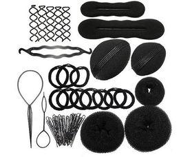 $enCountryForm.capitalKeyWord Canada - 12pcs per set Magic Hair Braider Hair Bun Clip Pads Curler Roller Styling Accessories Tools Kit Set Kit Twist Sponge Curl Hai