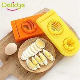 $enCountryForm.capitalKeyWord Canada - Delidge 10 pcs 2 In 1 Egg Cutter Stainless Steel +ABS Colorful Egg Mold Slicer Multifunction Kitchen Egg Slicer Cutter Mold