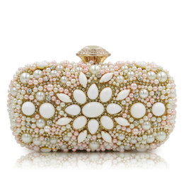 bridal clutches UK - Evening Bags Women Clutch Bags Evening Clutch Bags Wedding Bridal Handbag Singer Side Beaded Fashion Rhinestone Purse Sg123